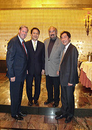 From left to right  Marc Kealey, principal Triple Eye Corporation;  His Excellency Le Sy Vuong, Ambassador;  David Tsubouchi, principal Triple Eye Corporation and Co-Chair CVBC;  Danny Leung, Principal Triple Eye Corporation and Co-Chair CVBC